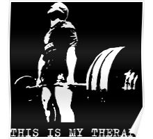 This Is My Therapy - Gym Motivation - Deadlift Poster