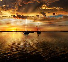 Macquarie sunrise by Dave  Gosling Designs
