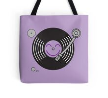 Groovy Purple Record Player Tote Bag