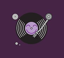 Groovy Purple Record Player Unisex T-Shirt