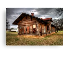 The Depot at Kopperl, Texas (Bosque County) Canvas Print
