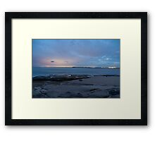 Crisp Night time at Caloundra inlet  Framed Print