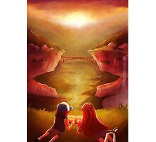 Gravity Falls Sunset Photographic Print