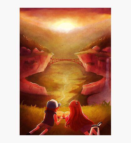 Gravity Falls Sunset Photographic Print