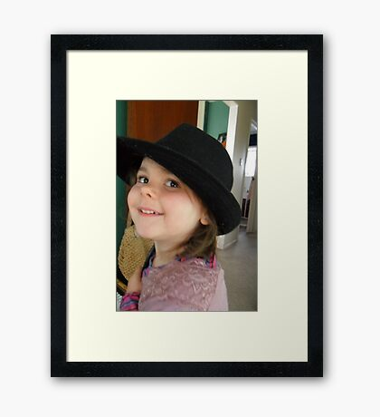 *` Abby playing dress ups `* Framed Print