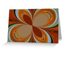 Oranges and Limes Abstract Greeting Card