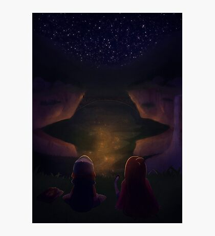 Gravity Falls Night Photographic Print