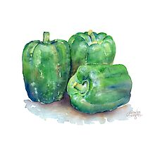 Green Bell Peppers Photographic Print
