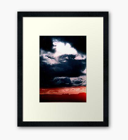 Blue sky Red sea - Denmark Framed Print