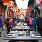 Chinese New Year Outdoor Feast  by qiutianran