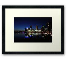 Media City Manchester At Dusk Framed Print