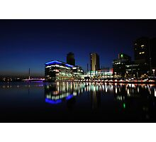 Media City Manchester At Dusk Photographic Print