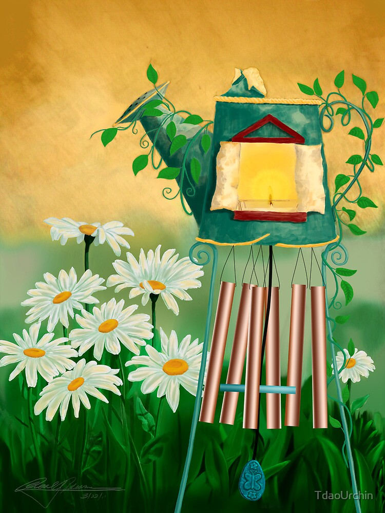 Garden Light with Chime by TdaoUrchin