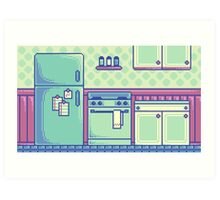 Kitchen (Pixel) Art Print