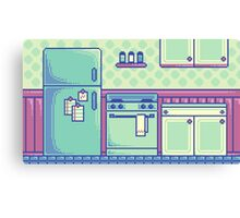 Kitchen (Pixel) Canvas Print