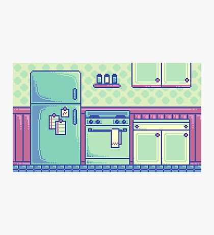 Kitchen (Pixel) Photographic Print