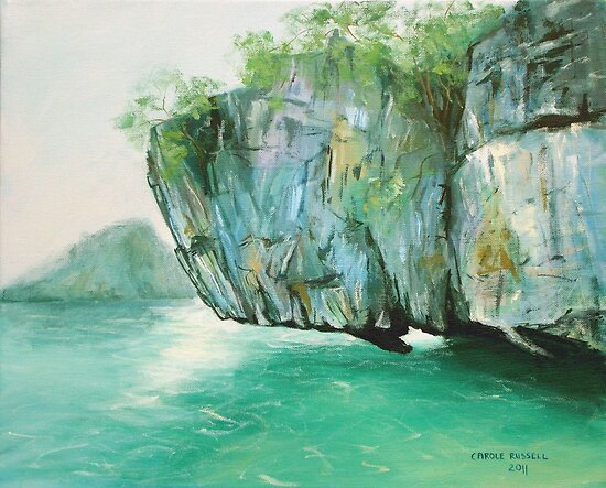 Hanging rock - Thailand by Carole Russell