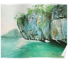 Hanging rock - Thailand Poster