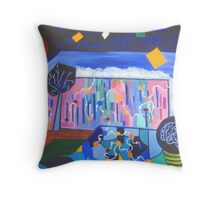 Blue Sky Thinking. Throw Pillow