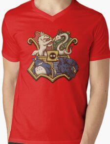 Ghibliwarts Crest Mens V-Neck T-Shirt