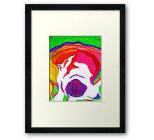 """ Psychedelic Brain Damage""-Homage to Pink Floyd. Framed Print"