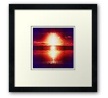 Fire Sky in the night Framed Print