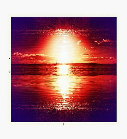 Fire Sky in the night Photographic Print
