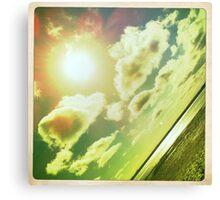 Sunshine through the clouds -  Series No.3 Canvas Print