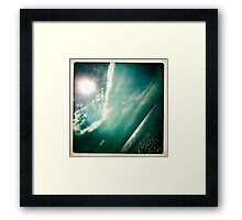 sunshine through the clouds -  Series No.4 Framed Print