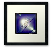sunshine through the clouds -  Series No.5 Framed Print