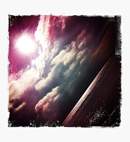 Sunshine through the clouds -  Series No.6 Photographic Print