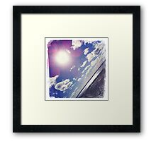Sunshine through the clouds -  Series No.8 Framed Print