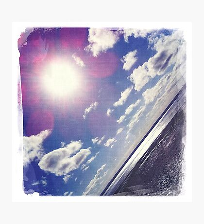 Sunshine through the clouds -  Series No.8 Photographic Print