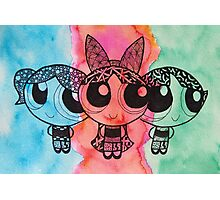 Zentangle Girls Photographic Print