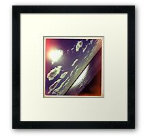 sunshine through the clouds -  Series No.9 Framed Print