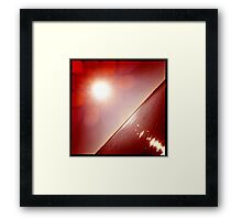 hipsta Gradient Series- Sunset ripple effects No.5 Framed Print