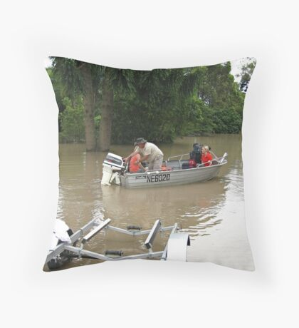 Brisbane Floods 2011 - Inundation - The Tinny Throw Pillow