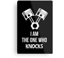 I'm the one who knocks - Engine Decal (Black) Metal Print