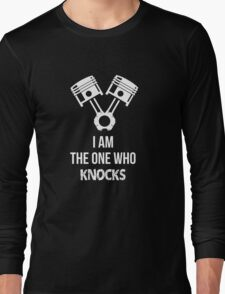 I'm the one who knocks - Engine Decal (Black) Long Sleeve T-Shirt