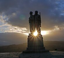 Commando War Memorial, Glengarry, Scotland by Brian Sharland