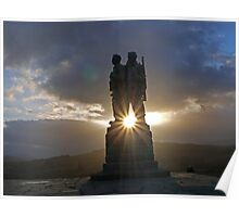 Commando War Memorial, Glengarry, Scotland Poster