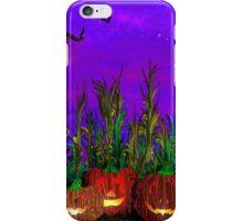 Jack-O'-Lanterns in the Corn Field iPhone Case/Skin
