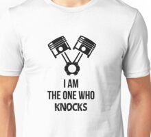 I'm the one who knocks - Engine Decal (White) Unisex T-Shirt