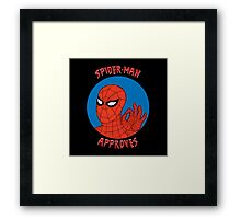 Spidey Approves Framed Print
