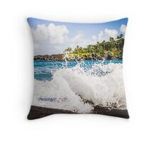sand and surf series Throw Pillow