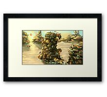 Bright Alien Desert Plants Framed Print