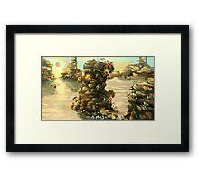 Bright Alien Desert Plants Framed Print