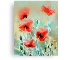 morning poppies Canvas Print