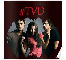 #TVD - The Vampire Diaries - Damon, Elena, Stefan Poster