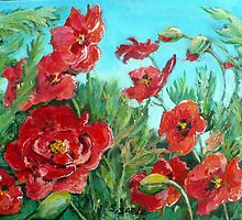 Windswept Wild Poppies by Saga Sabin